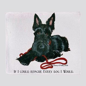 Scottish Terrier Rescue Me Throw Blanket